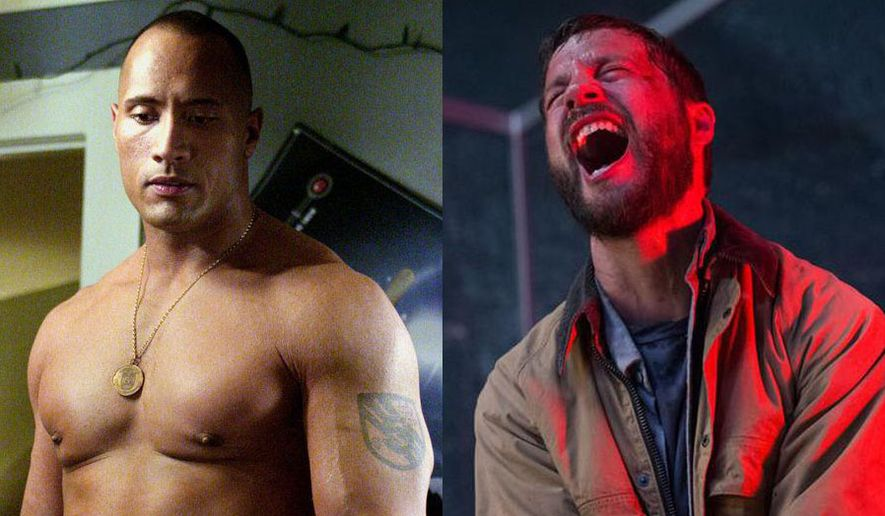 """Dwayne Johnson in """"Walking Tall: Special Edition"""" and Logan Marshall-Green in """"Upgrade,"""" available on Blu-ray."""