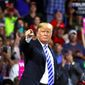 President Trump enjoys an enthusiastic rally with those who support him, staged recently in Charleston, W.Va. (AP Photo/Alex Brandon) (Associated Press)