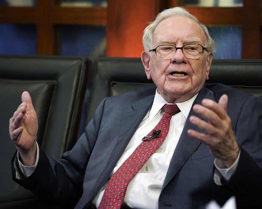 "3. Warren Buffett, 87, Berkshire Hathaway, $84 B   Berkshire Hathaway Chairman and CEO Warren Buffett speaks during an interview in Omaha, Neb., Monday, May 7, 2018, with Liz Claman on Fox Business Network's ""Countdown to the Closing Bell"". (AP Photo/Nati Harnik)"