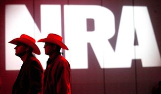 "The NRA's annual meeting and exhibits, which attracted over 187,000 people in 2018, has been named the nation's ""fastest growing"" association show by a major industry source. (AP Photo/Houston Chronicle, Johnny Hanson, File photo)"