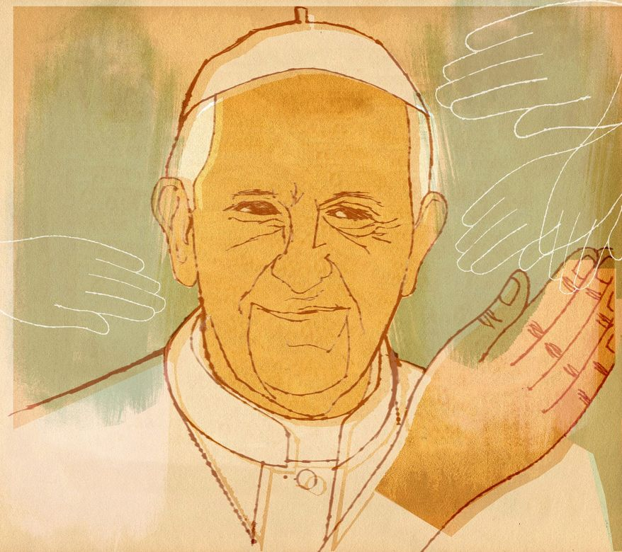 Illustration of Pope Francis by Donna Grethen/Tribune Content Agency