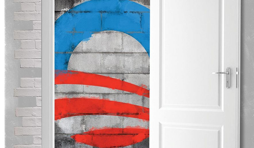 Illustration on the continuing ill effects of Obamacare by Linas Garsys/The Washington Times