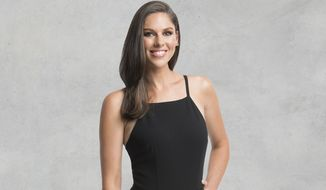"This image released by ABC shows Abby Huntsman, newly-named co-host of the daytime talk show ""The View."" The talk show launches its 22nd season next Tuesday, Sept. 4.  (Lorenzo Bevilaqua/ABC via AP)"