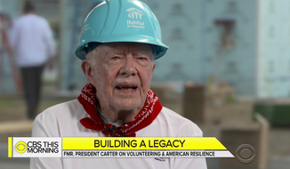 "Former President Jimmy Carter appeared on ""CBS This Morning"" to discuss a Habitat for Humanity project in Indiana, Aug. 28, 2018. (Image: ""CBS This Morning"" screenshot)"