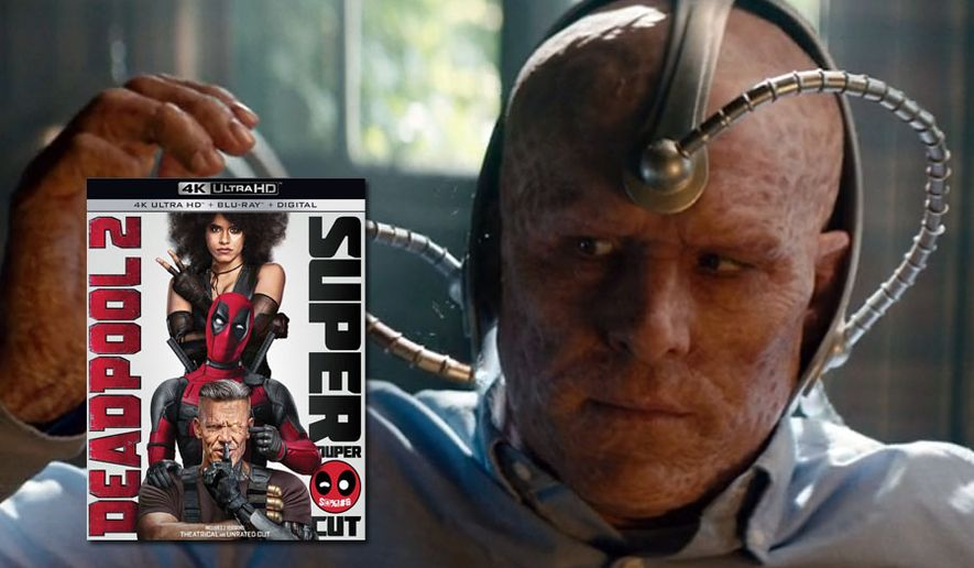 "Wade Wilson (Ryan Reynolds) wears head gear that smells like Patrick Stewart in ""Deadpool 2: Super Duper $@%!#& Cut,"" now available on 4K Ultra HD from 20th Century Fox Home Entertainment."