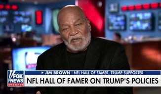 "NFL legend Jim Brown declared Tuesday that the black community ""has a responsibility"" to fix its own problems rather than placing the blame on President Trump. (Fox News)"