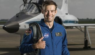 This June 6, 2017 photo shows NASA astronaut candidate Robb Kulin at Ellington Field in Houston. Kulin has resigned halfway through his two years of training at Johnson Space Center in Houston. A NASA spokeswoman says his departure is effective Friday, Aug. 31, 2018, and that he is leaving for personal reasons that the space agency cannot discuss due to privacy laws. (Robert Markowitz/NASA via AP)