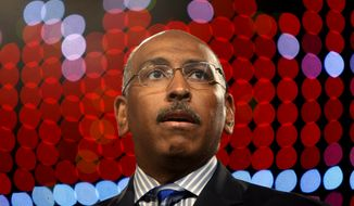 Republican National Committee Chairman Michael Steele speaks at the 100th annual NAACP Convention in New York, Tuesday, July 14, 2009. (AP Photo/Seth Wenig)