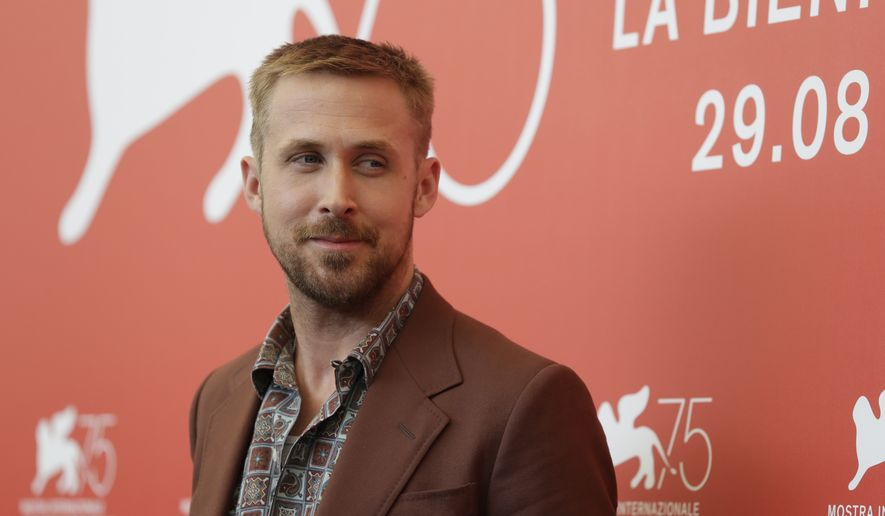 Actor Ryan Gosling poses for photographers at the photo call for the film 'First Man' at the 75th edition of the Venice Film Festival in Venice, Wednesday, Aug. 29, 2018. (AP Photo/Kirsty Wigglesworth)