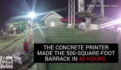 The U.S. Marine Corps recently created a 500-square-foot barracks in roughly 40 hours. (Image: Fox News screenshot via U.S. Marine Corps)