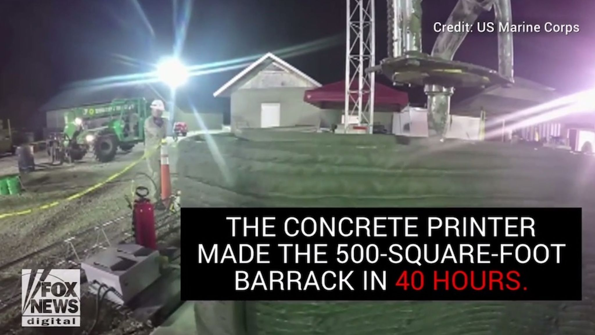 Marines make history with 3D-printing blitz: Concrete barracks built in 40 hours