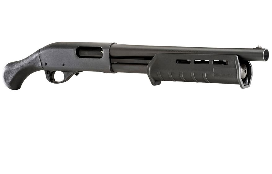 Remington Model 870 TAC-14 20 Gauge - Home invaders just drew the short straw. Small in size but huge on home defense capability, the Model 870 Tac-14 delivers devastating, threat-stopping power to protect your home and family. Featuring legendary Model 870 reliability, a Raptor pistol grip and Magpul M-Lock forend, its powerful personal protection at its absolute shortest-- and finest.