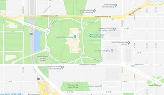 Screenshot of Google maps showing the McCain Senate Office Building.