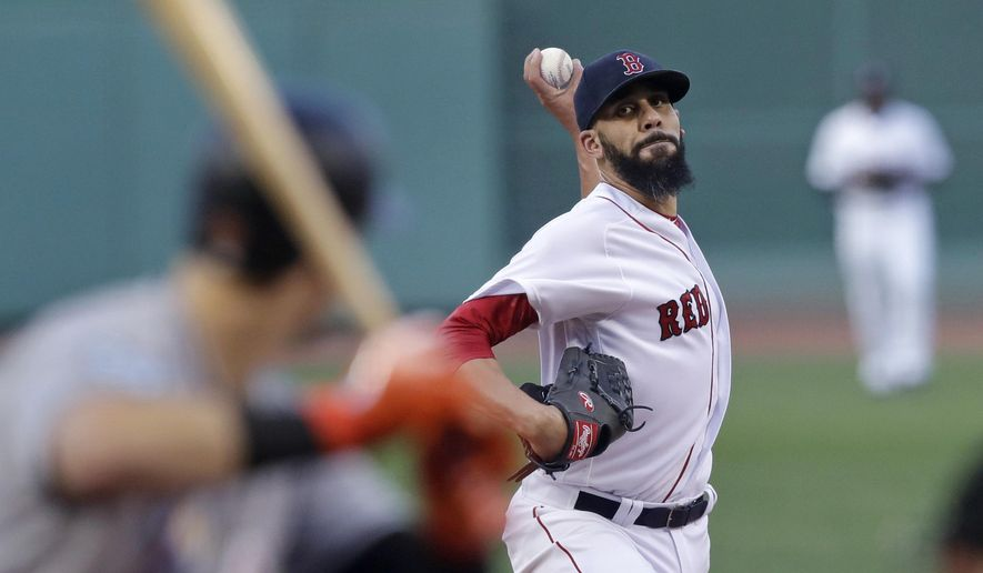 Boston Red Sox starting pitcher David Price delivers during the first inning of a baseball game against the Miami Marlins at Fenway Park in Boston, Wednesday, Aug. 29, 2018. (AP Photo/Charles Krupa)
