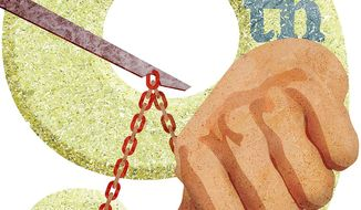 Thumb on the Scales at the Ninth Circuit Court of Appeals Illustration by Greg Groesch/The Washington Times