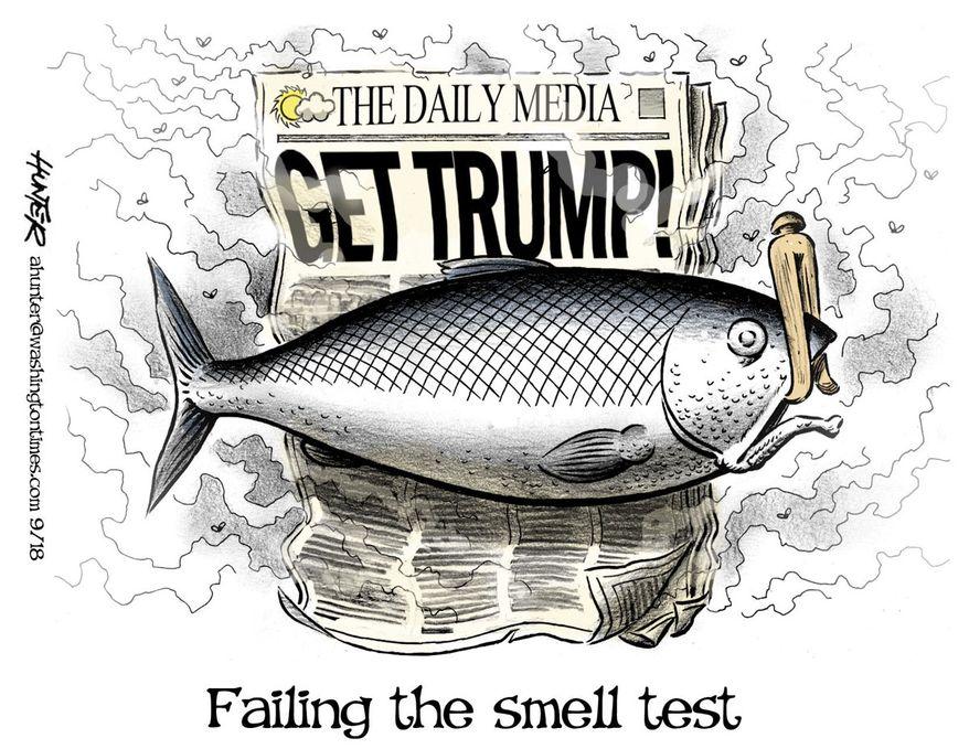 Illustration by Alexander Hunter for The Washington Times (published September 2, 2018)