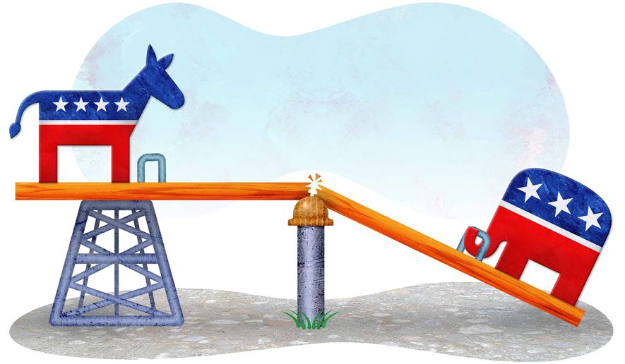 Lack of Bipartisanship Illustration by Greg Groesch/The Washington Times