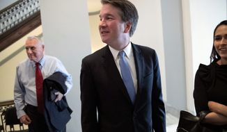 Supreme Court nominee Judge Brett M. Kavanaugh says he's a textualist in his approach to the Constitution, saying that he would be to adhere to what the text says. But legal scholars say he's better described as an originalist, looking for the intent behind the document. (Associated Press)