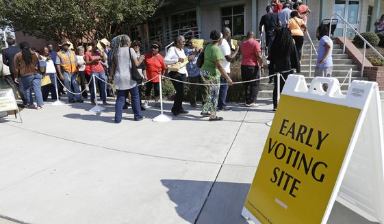 Non-citizens who sign up to vote appear to do so at motor vehicle bureaus. Of the 18 accused voters for which The Washington Times was able to find state records, all of them registered at North Carolina DMVs. (Associated Press)