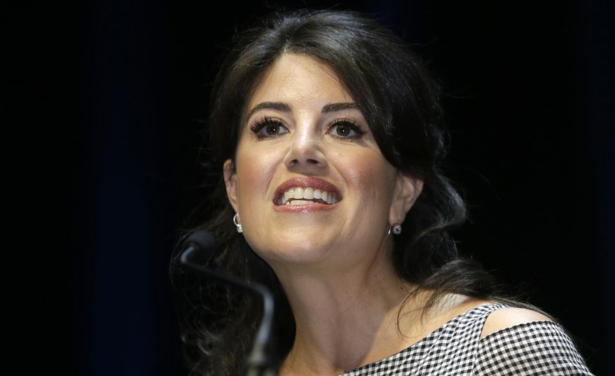 Monica Lewinsky attends the Cannes Lions 2015, International Advertising Festival in Cannes, southern France, June 25, 2015. (AP Photo/Lionel Cironneau) ** FILE **