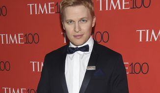 FILE - In this April 24, 2018 file photo, Ronan Farrow attends the Time 100 Gala celebrating the 100 most influential people in the world in New York. Farrow says that NBC News Chairman Andy Lack's explanation of why the network wouldn't air his story alleging sexual misconduct by Harvey Weinstein contains several false and misleading statements. (Photo by Evan Agostini/Invision/AP, File)