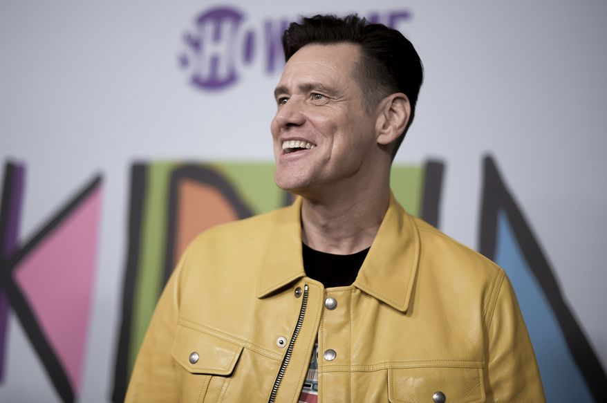 "Jim Carrey attends the LA Premiere of ""Kidding ""at ArcLight Hollywood on Wednesday, Sept. 5, 2018, in Los Angeles. (Photo by Richard Shotwell/Invision/AP)"