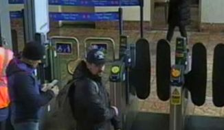 This still taken from CCTV and issued by the Metropolitan Police in London on Wednesday Sept. 5, 2018, shows Ruslan Boshirov and Alexander Petrov at Salisbury train station on March 4, 2018. British prosecutors have charged two Russian men, Alexander Petrov and Ruslan Boshirov, with the nerve agent poisoning of ex-spy Sergei Skripal and his daughter Yulia in the English city of Salisbury. They are charged in absentia with conspiracy to murder, attempted murder and use of the nerve agent Novichok. (Metropolitan Police via AP)