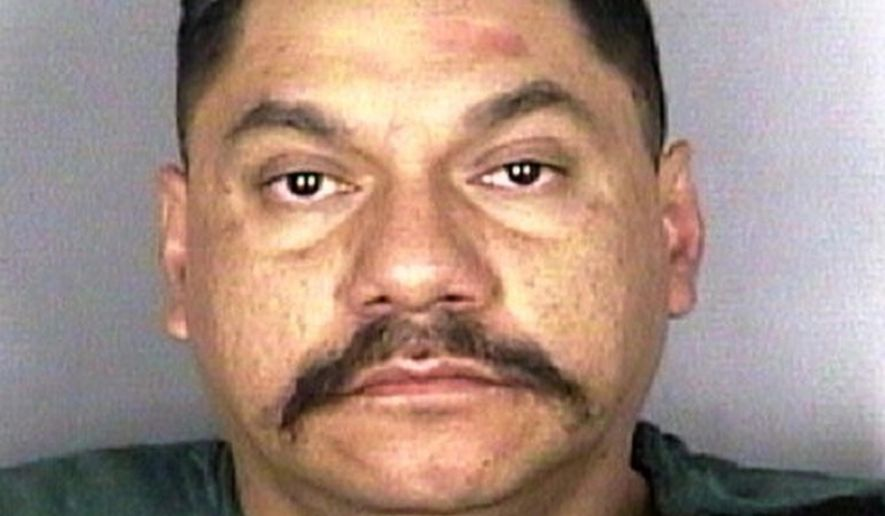 This Aug. 19, 2018, booking photo released by the Marion County Sheriff's Office shows inmate, Eduardo de la Lima Vargas, at the Marion County Jail (MCJ) in Salem, Ore. The Mexican man who federal authorities say is illegally in America allegedly ran a red light while drunk and crashed into a motorcycle carrying a man and woman, killing them both. On Wednesday, Sept. 5 a judge set bail for de la Lima Vargas at a half-million dollars, saying he's a threat to society and a flight risk. He was sent back to the Marion County jail, joining the hundreds of foreigners in jails and prisons in Oregon who federal immigration authorities believe are deportable. (S Griffith/Marion County Sheriff's Office via AP)