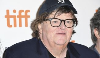 "Michael Moore attends the premiere for ""Fahrenheit 11/9"" on day 1 of the Toronto International Film Festival at the Ryerson Theatre on Thursday, Sept. 6, 2018, in Toronto. (Photo by Arthur Mola/Invision/AP) ** FILE **"