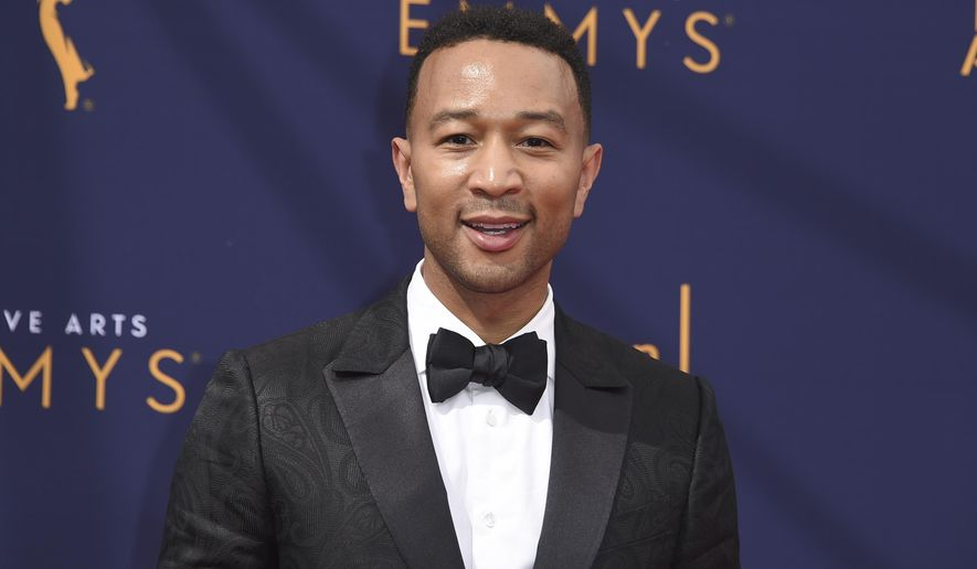 John Legend arrives at Night 2 of the Creative Arts Emmy Awards at The Microsoft Theater on Sunday, Sept. 9, 2018, in Los Angeles. (Photo by Richard Shotwell/Invision/AP)