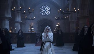 """This image released by Warner Bros. Pictures shows Sandra Teles in a scene from """"The Nun."""" (Martin Maguire/Warner Bros. Pictures via AP)"""
