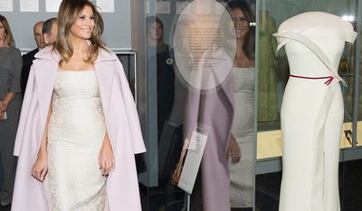 First Lady Melania Trump at the presentation of her inaugural gown at the Smithsonian National Museum of American History | October 20, 2017 (Official White House Photo by Andrea Hanks)