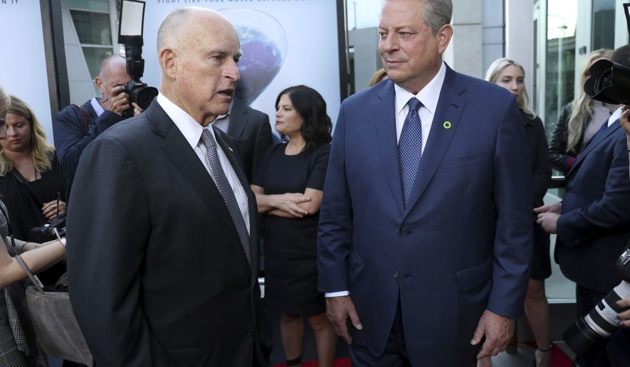 The massive three-day bash hosted by California Gov. Jerry Brown will feature top Democrats, liberal megadonors, Obama administration figures, international leaders, green energy, Silicon Valley, Hollywood celebrities, and Al Gore. (Associated Press photograph)