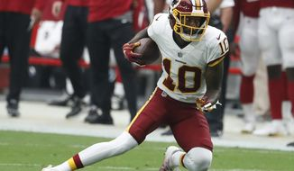 Washington Redskins wide receiver Paul Richardson (10) during an NFL football game against the Arizona Cardinals, Sunday, Sept. 9, 2018, in Glendale, Ariz. (AP Photo/Rick Scuteri)