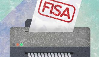 Down With FISA Warrants Illustration by Greg Groesch/The Washington Times