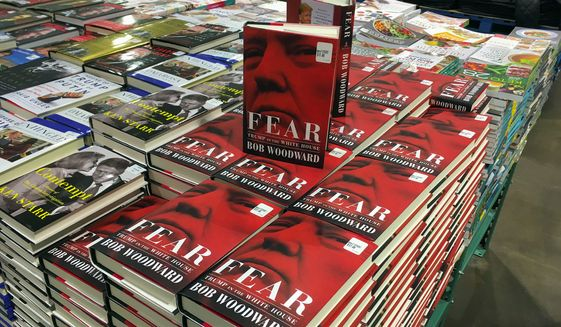 "Chinese propaganda outlets have provided extensive coverage of Bob Woodward's latest book, ""Fear,"" which criticizes the Trump administration. (Associated Press)"