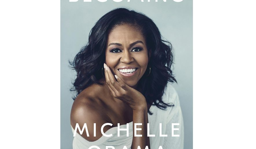 """This cover image released by Crown shows """"Becoming,"""" by Michelle Obama, available on Nov. 13. Obama will visit 10 cities to promote her memoir """"Becoming,"""" a tour featuring arenas and other performing centers to accommodate crowds likely far too big for any bookstore. The former first lady will begin at the United Center in her native Chicago on Nov. 13, the book's release date.  (Crown via AP)"""