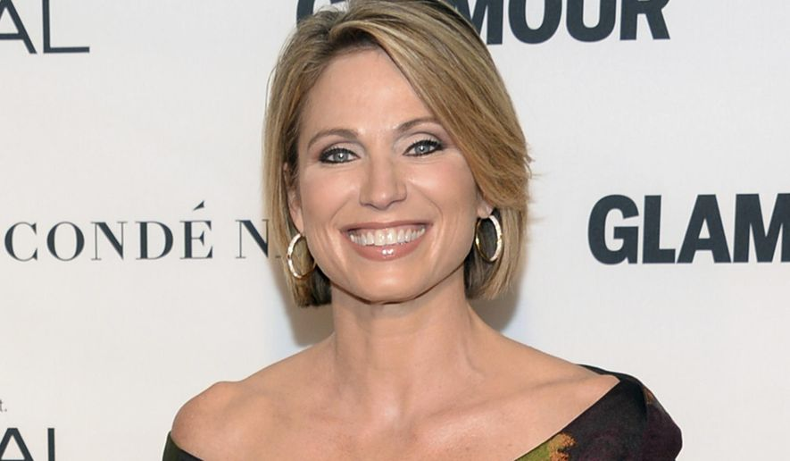 FILE - In this Nov. 9, 2015 file photo, Amy Robach attends the 25th Annual Glamour Women of the Year Awards in New York. The ABC News correspondent has become the network's first choice to cover mass shootings.  (Photo by Evan Agostini/Invision/AP, File)