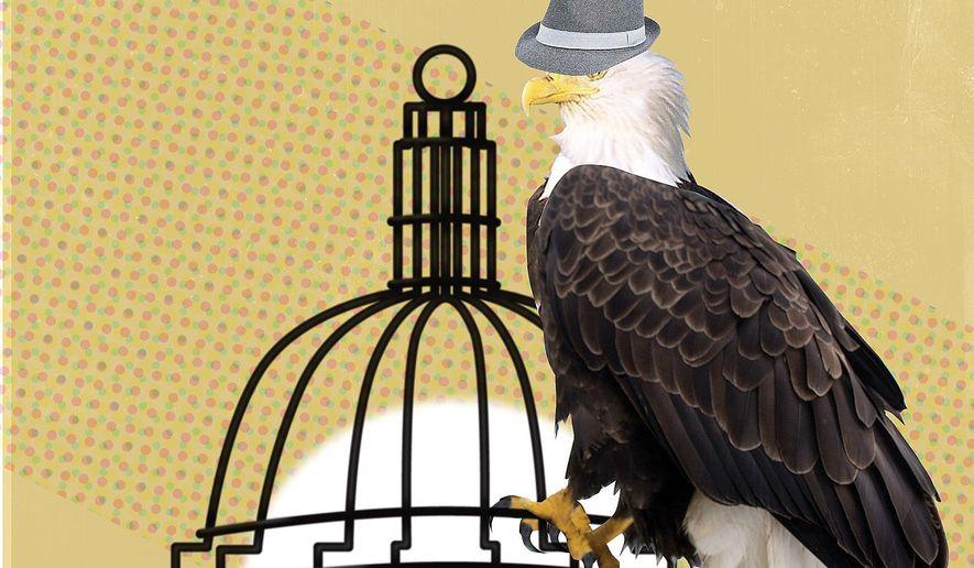 Illustration on de-politicizing the CIA by Linas Garsys/The Washington Times