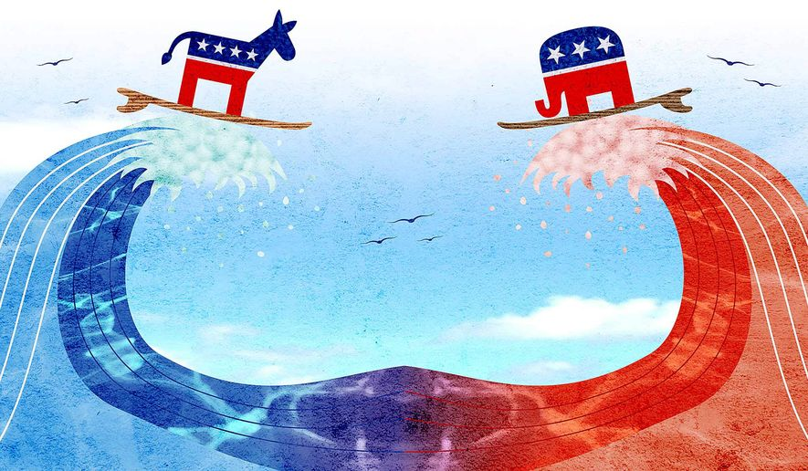 2018 Election Waves Illustration by Greg Groesch/The Washington Times