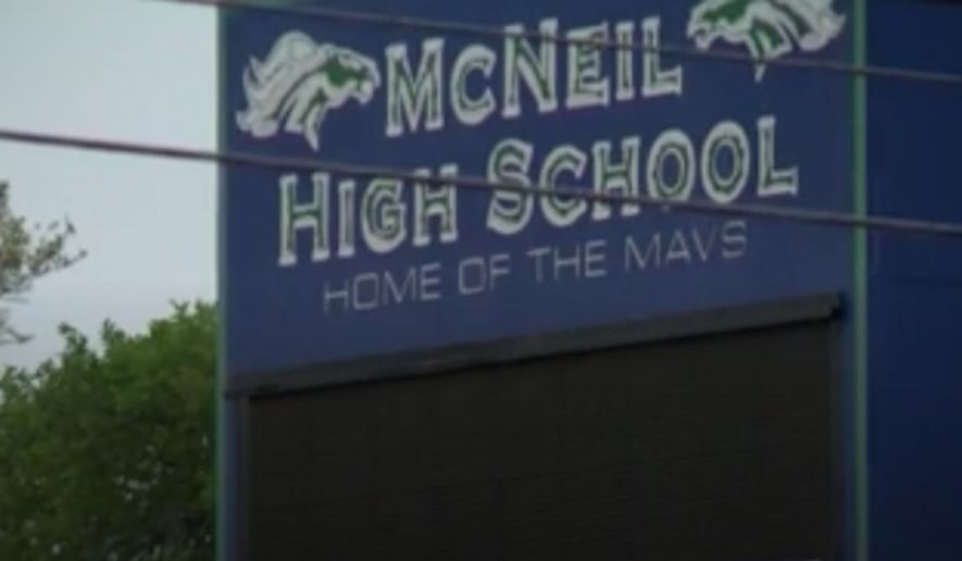 A teacher at McNeil High School near Austin has been placed on paid leave after being accused of bullying a student because of his support for President Trump. (KVUE)