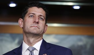 House Speaker Paul Ryan, Wisconsin Republican, attends a news conference in Washington on Sept. 13, 2018. (Associated Press) **FILE**