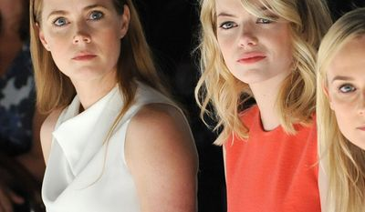 Amy Adams and Emma Stone (in picture) along with Charlize Theron and Emma Watson fell off this years list