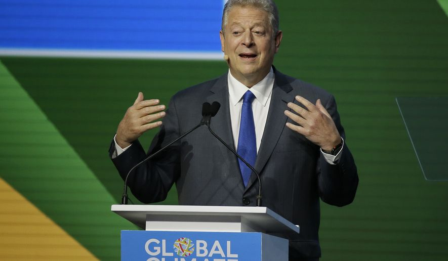 Former Vice President Al Gore during the Global Action Climate Summit Friday, Sept. 14, 2018, in San Francisco. (AP Photo/Eric Risberg)