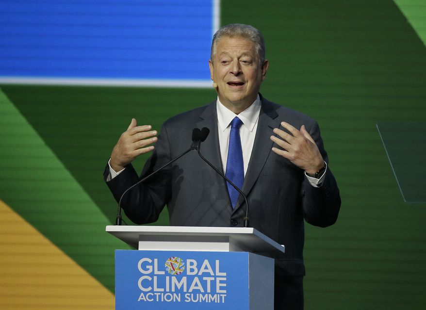 Former Vice President Al Gore during the Global Action Climate Summit Friday, Sept. 14, 2018, in San Francisco. (AP Photo/Eric Risberg) ** FILE **
