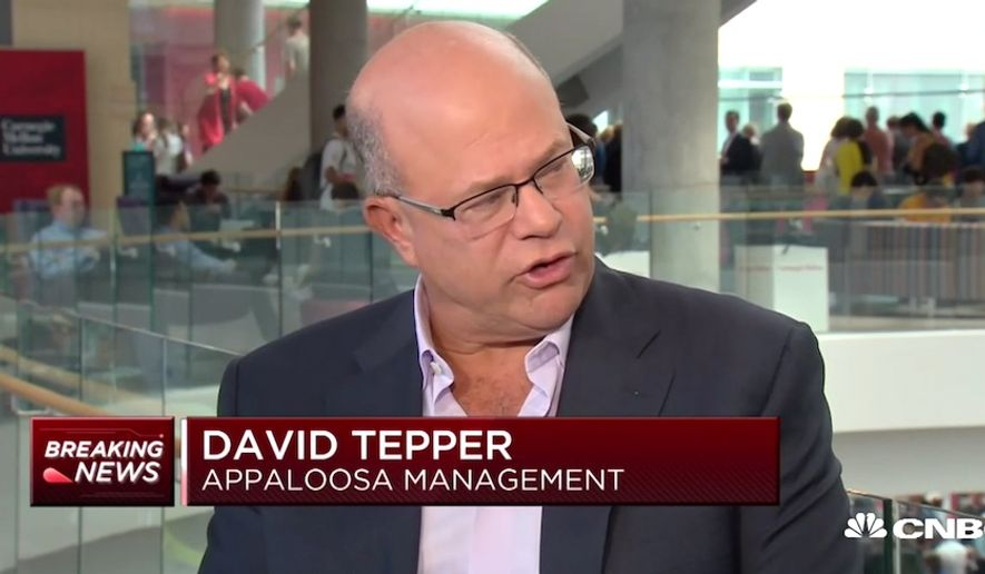 "Carolina Panthers owner David Tepper mocked President Trump on CNBC as the ""red-headed guy in D.C."" while talking about the NFL's ongoing national anthem protests, Sept. 14, 2018. (Image: CNBC screenshot)"