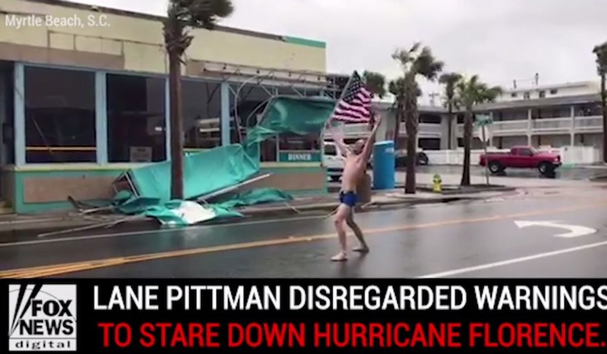 Lane Pittman's hair-metal hurricane resistance video posted on Facebook on Sept. 14, 2018, tallied nearly 30 million views within hours. (Image: Fox News digital screenshot)