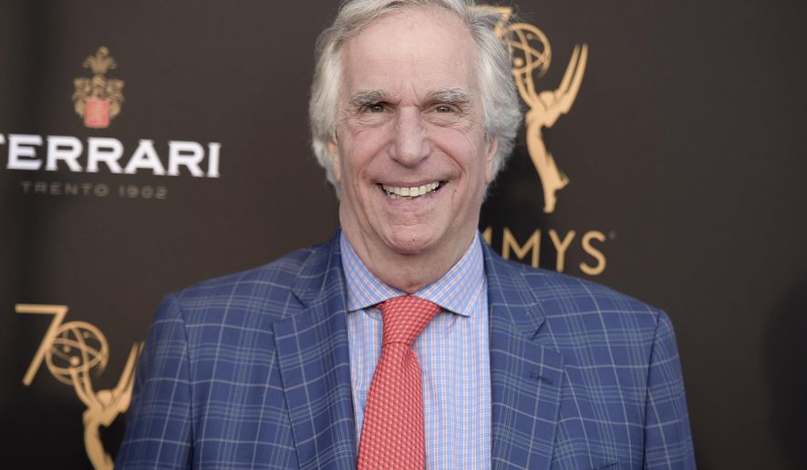 In this Aug. 20, 2018 file photo, Henry Winkler attends the 2018 Performer Peer Group Celebration in Los Angeles. (Photo by Richard Shotwell/Invision/AP, File)