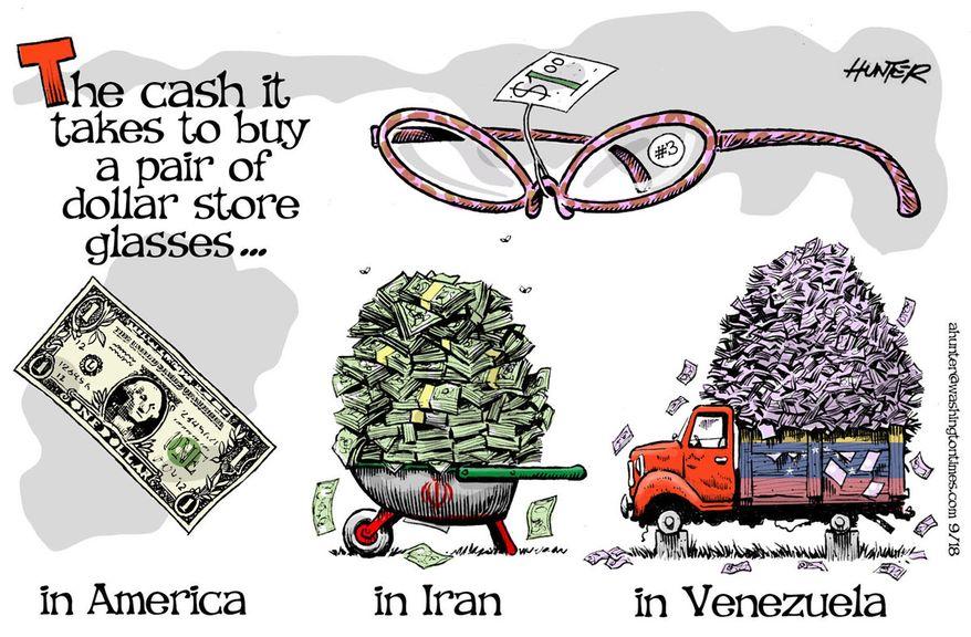 Illustration by Alexander Hunter for The Washington Times (published September 16, 2018)