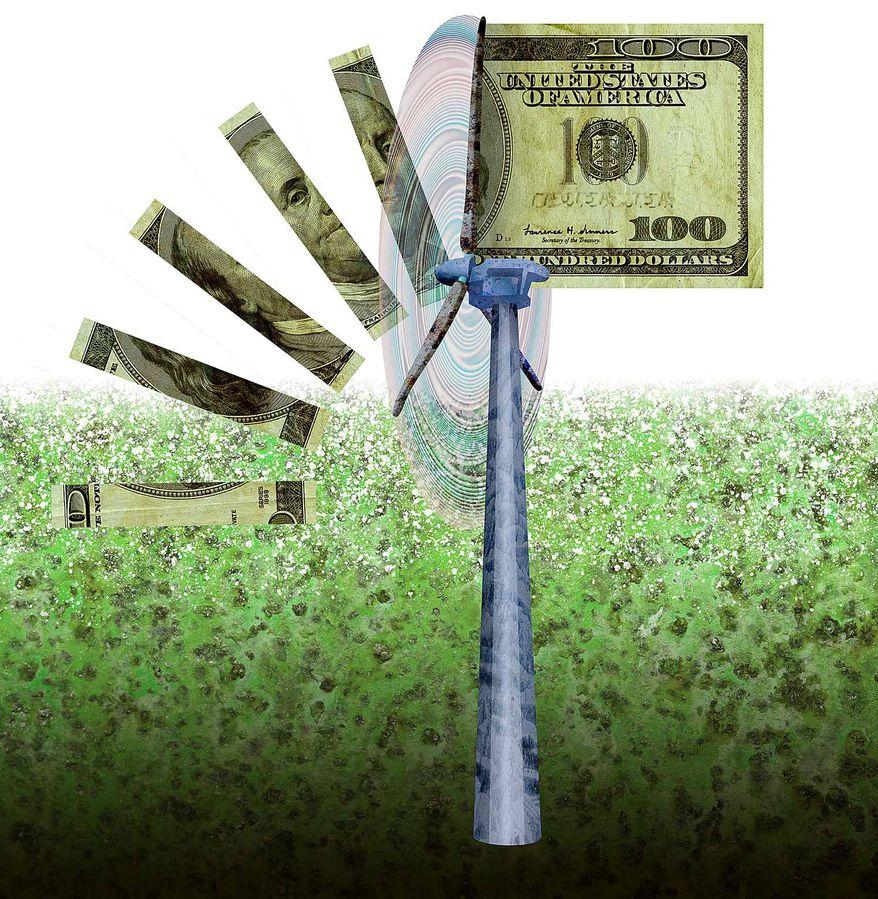 Green Energy Mandates Illustration by Greg Groesch/The Washington Times